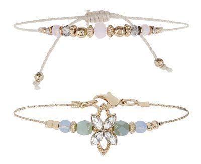 Accessorize - 2x Mini Friendship Bracelet Pack - £6
