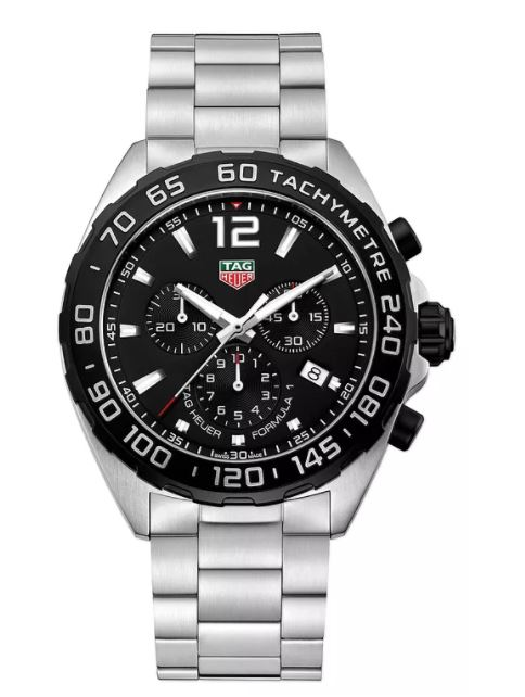 Ernest Jones - TAG Heuer F1 Men's Black Dial Stainless Steel Bracelet Watch - £1100