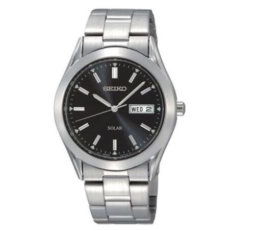 Seiko Stainless Steel Solar Bracelet Watch - F Hinds - £159