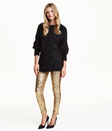 H&M Sequinned Trousers