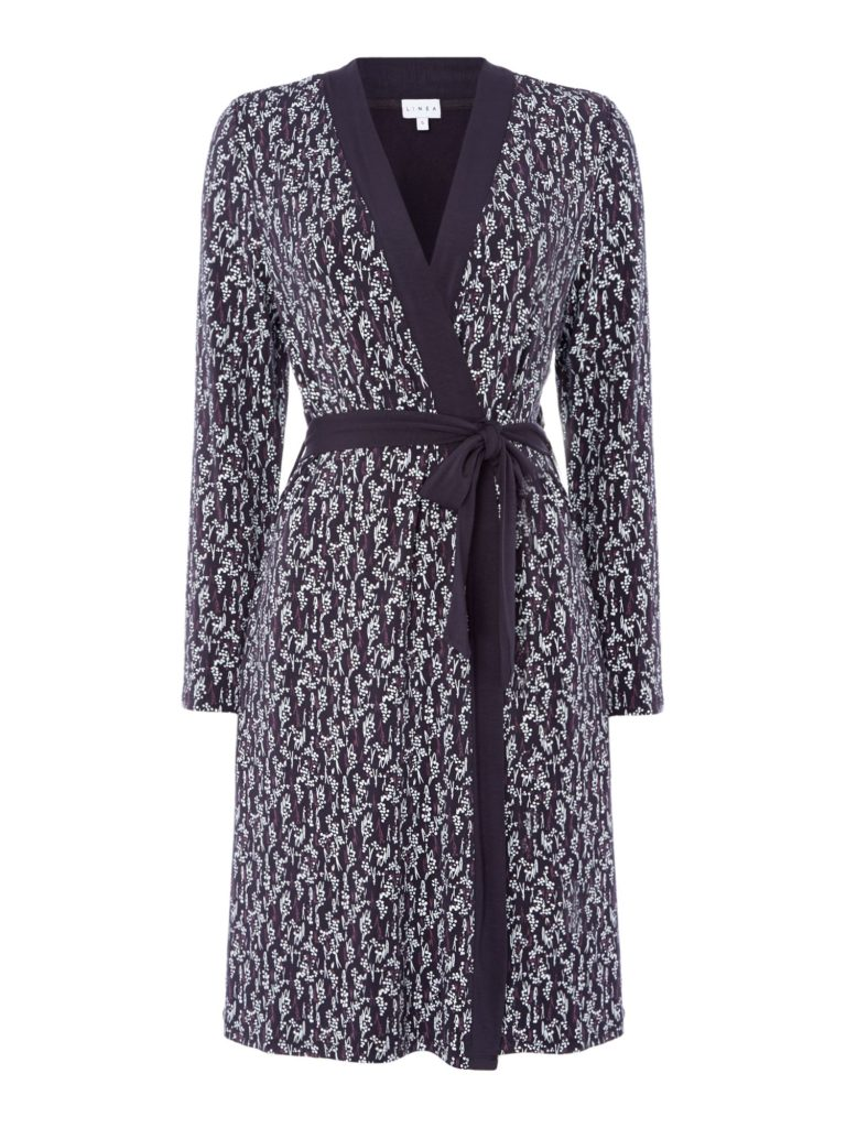 House of Fraser- Linea Ditsy Tulip Jersey Robe- £35