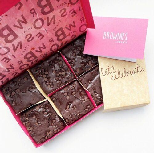 Lola's celebration chocolate brownies
