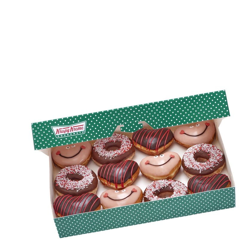 Krispy Kreme - The Valentine's Dozen - £13.45