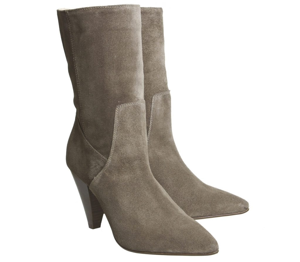 Office- Aspen Slouch Ankle Boots Taupe Suede- £90