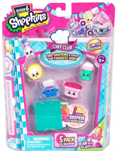 Shopkins Chef Club Series 6 Blister 5 Pack £4.99 Toys Uk