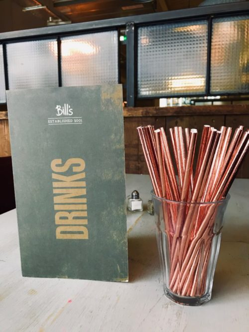 Bill's new spring menu Ban Plastic Straws