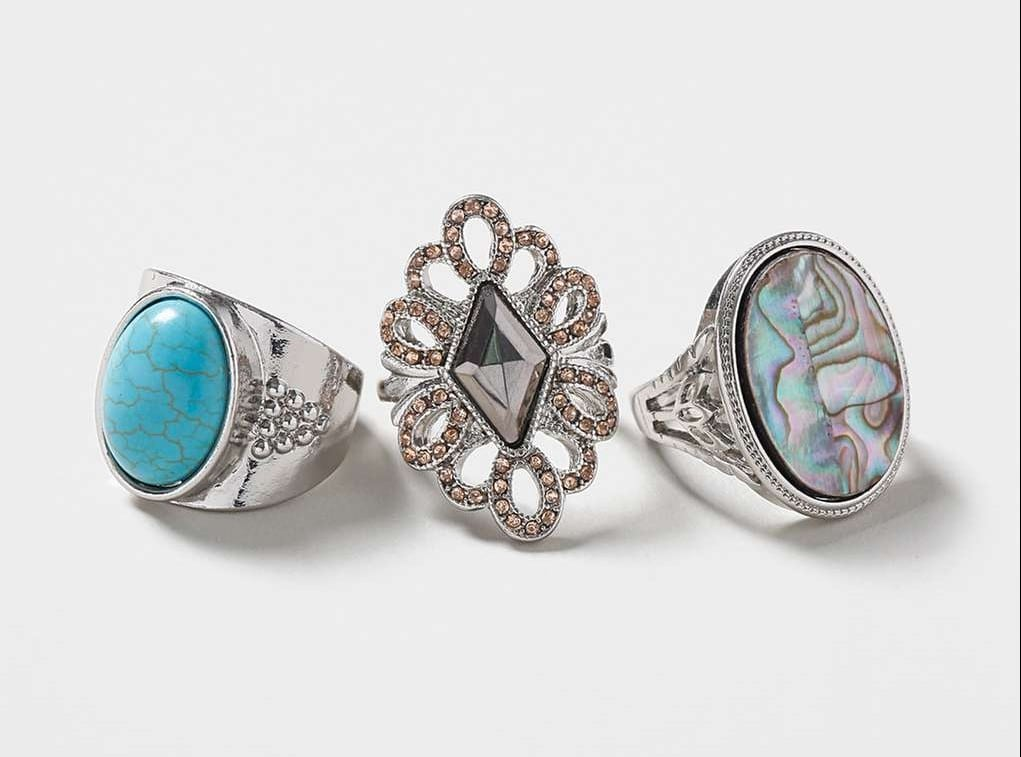 Topshop Abalone Ring multipack £12.50