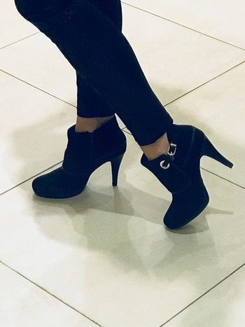 08501bc36d18 These black faux suede Agnes ankle boots at £52 in Wallis are now on my  wish list!!! They are begging to be worn out with a pair of black skinny  jeans and a ...