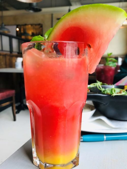 Bill's new spring menu Watermelon Cooler