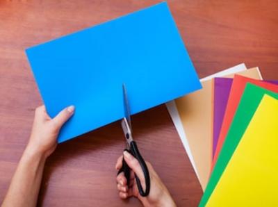 coloured card