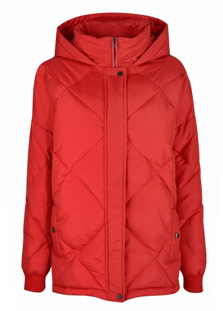 Dorothy Perkins - Red Duvet Coat £60.00