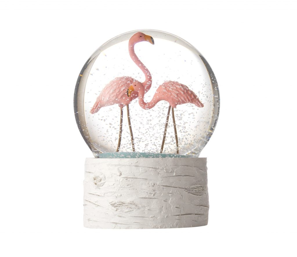 House of Fraser - Flamingo Snow Globe £17.50