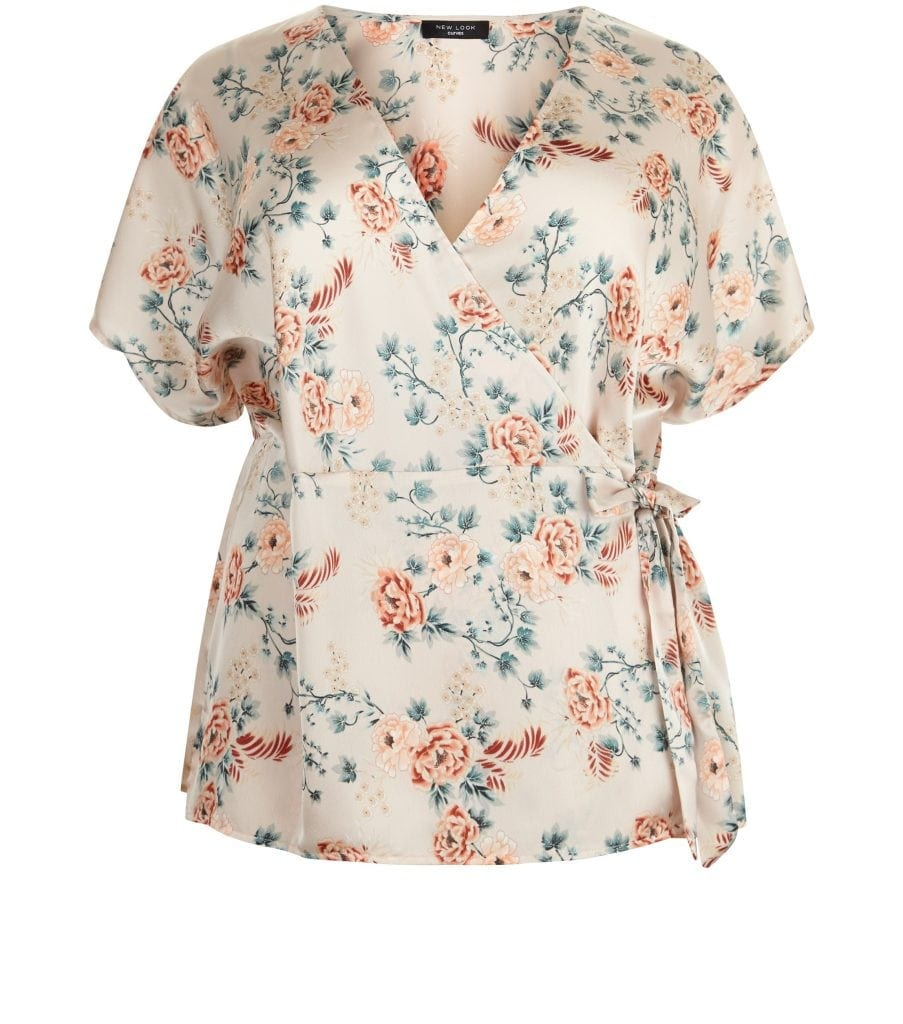 New Look - Curves pink floral top £11.50