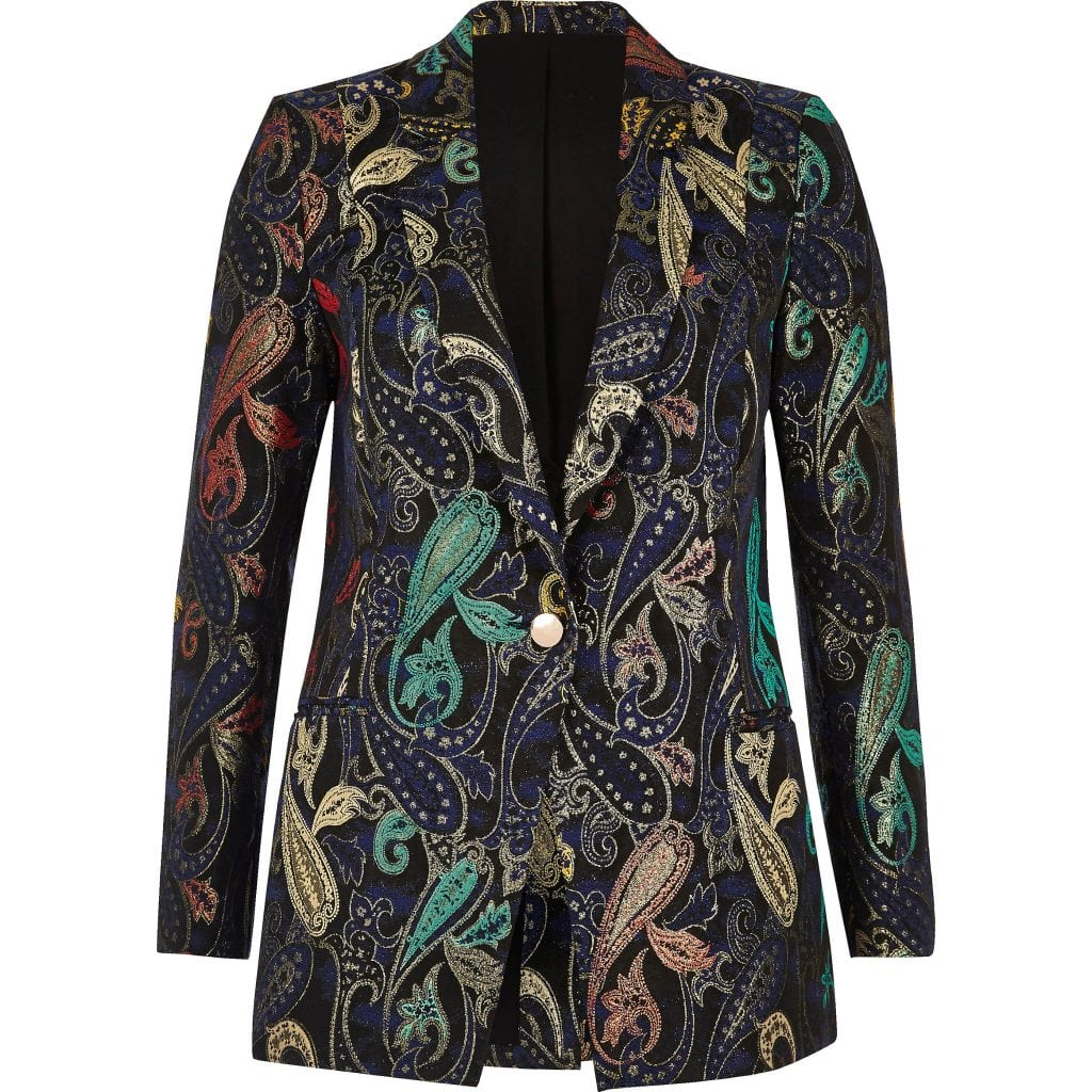 River Island - Metallic jacquard suit jacket £70.00