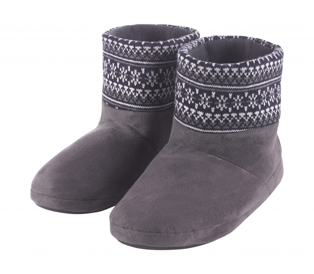 TK Maxx - Grey Patterned slipper Boots £14.99